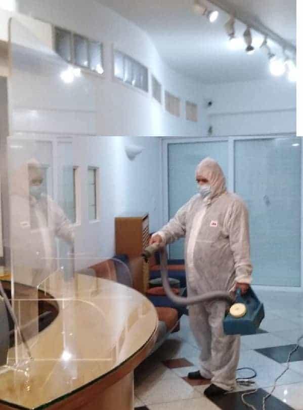 Απολύμανση χώρων για Κορωνοϊό COVID-19